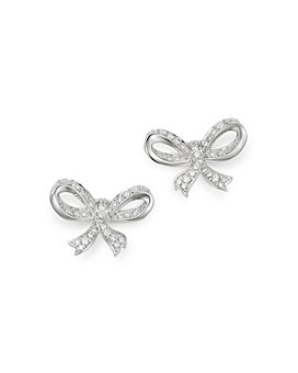 Bloomingdale's - Diamond Bow Stud Earrings in 14K White Gold, 0.65 ct. t.w. - 100% Exclusive