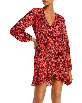 Bardot - Nora Leopard Print Wrap Dress