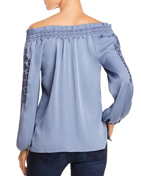 Kobi Halperin - Brenda Silk-Blend Off-the-Shoulder Blouse
