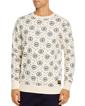 Scotch & Soda - Allover Printed French Terry Sweatshirt