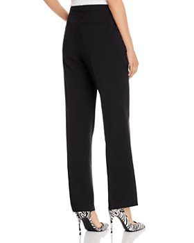 AQUA - Pleated Wide-Leg Pants - 100% Exclusive