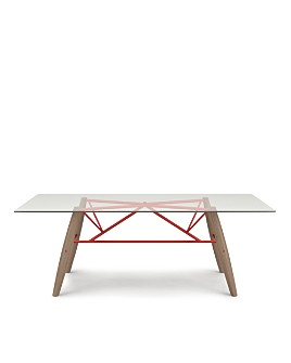 """Huppé - Connection 76"""" Glass Top Dining Table"""