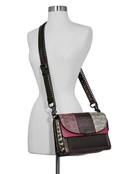 COACH - Dreamer Mixed Media Snake-Print Shoulder Bag