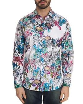 Robert Graham - Broken Blossom Floral-Print Classic Fit Shirt