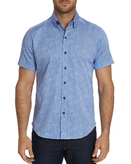 Robert Graham - Scott Short-Sleeve Abstract-Print Classic Fit Shirt