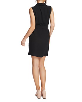 1.STATE - Belted Faux-Wrap Dress