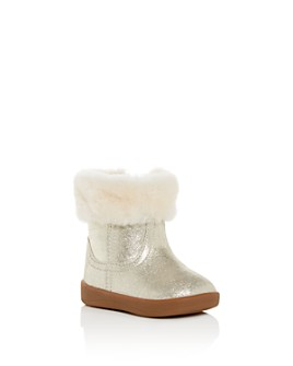 UGG® - Girls' Jorie II Fur-Lined Metallic Boots - Baby