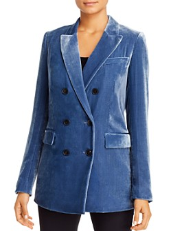 Lafayette 148 New York - Slade Velvet Double-Breasted Blazer