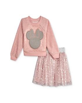 Pippa & Julie - Disney Girls' Sequined Minnie Top & Star Skirt Set - Little Kid