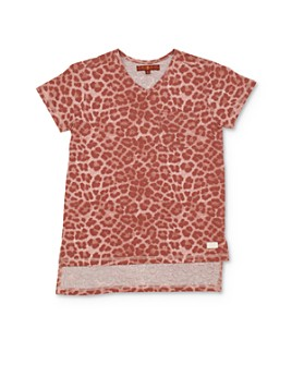7 For All Mankind - Girls' Leopard Print High/Low Tee - Big Kid