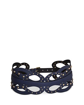 BCBGMAXAZRIA - Studded Loop Faux Leather Belt