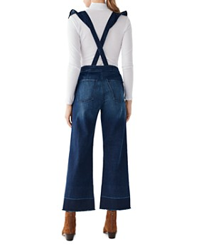 DL1961 - Hepburn Ruffled Cropped Denim Overalls