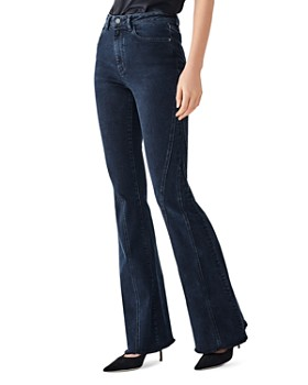DL1961 - Rachel Seamed Flared-Leg Jeans in Denevue
