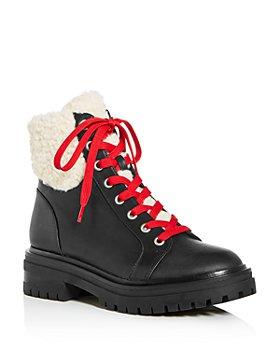 Kenneth Cole - Women's Rhode Faux-Fur Waterproof Combat Boots