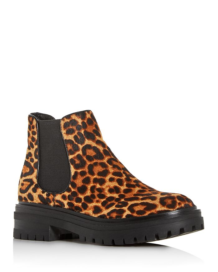 Kenneth Cole - Women's Rhode Leopard-Print Calf Hair Chelsea Booties