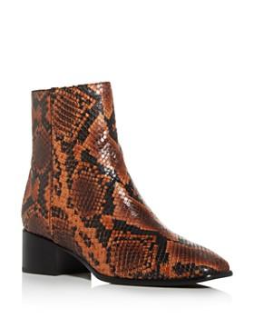 rag & bone - Women's Aslen Snake-Print Booties
