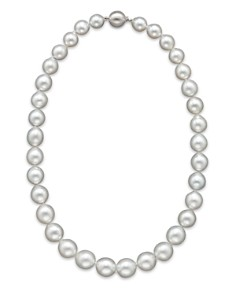 "Bloomingdale's - Cultured White South Sea Pearl Necklace in 14K White Gold, 18"" - 100% Exclusive"
