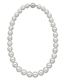 """Bloomingdale's - Cultured White South Sea Pearl Necklace in 14K White Gold, 18""""- 100% Exclusive"""
