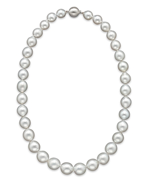 Cultured White South Sea Pearl Necklace in 14K White Gold, 18