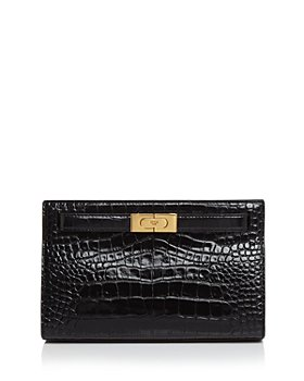 Tory Burch - Lee Radziwill Embossed Leather Clutch