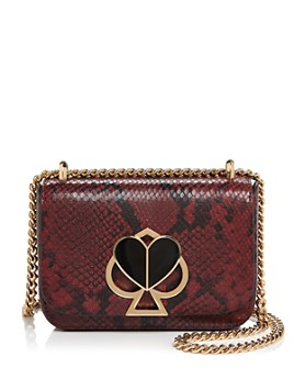 kate spade new york - Nicola Small Snake-Print Crossbody
