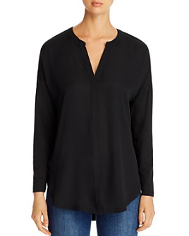 Lyssé - Millie Mixed-Media V-Neck Top