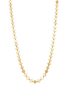 "Moon & Meadow - 14K Yellow Gold Diamond-Shaped Station Necklace, 17"" - 100% Exclusive"