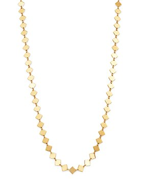 """Moon & Meadow - 14K Yellow Gold Diamond-Shaped Station Necklace, 17"""" - 100% Exclusive"""