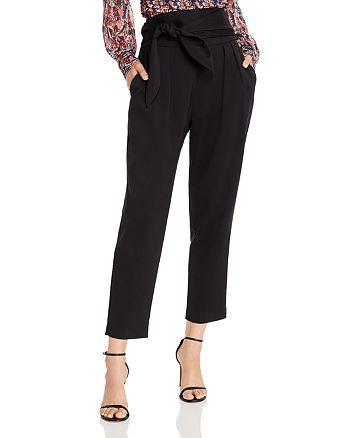 AQUA - Tie-Waist Tapered Pants - 100% Exclusive