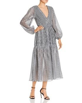 Bec & Bridge - Nadine Crinkled Gingham Midi Dress