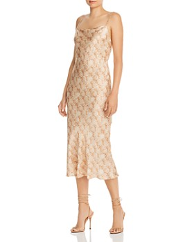 Bec & Bridge - Anaconda Snake-Print Silk Midi Dress