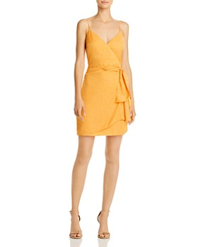 GUESS - Nadia Faux-Wrap Jacquard Dress