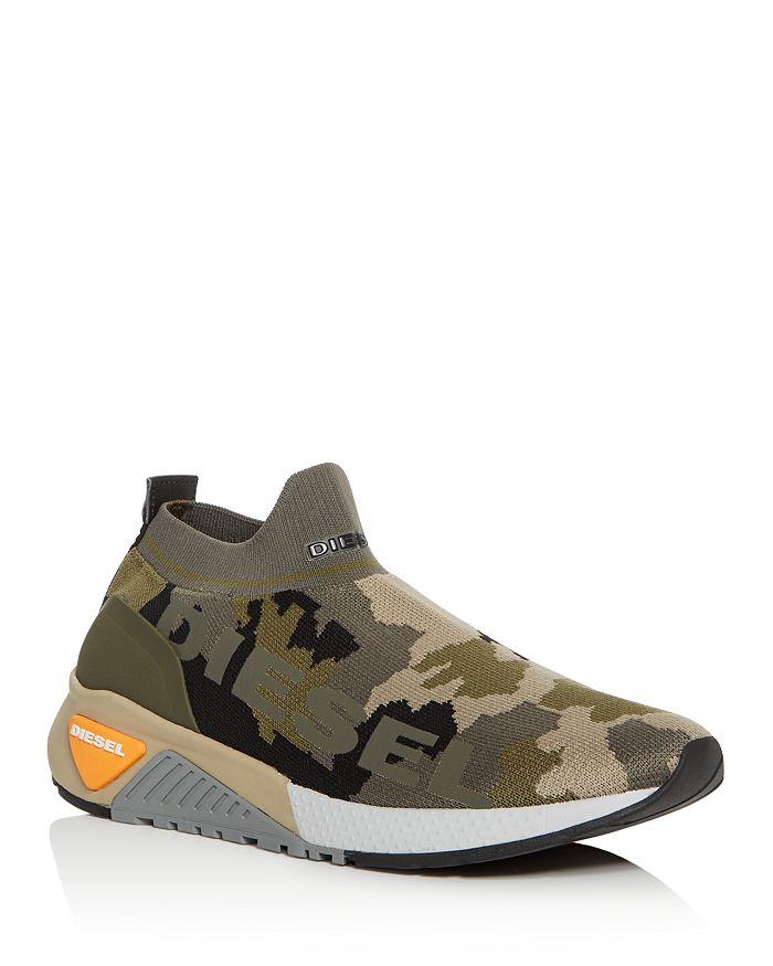 Diesel - Men's S-KB Athletic Camo Knit Sneakers