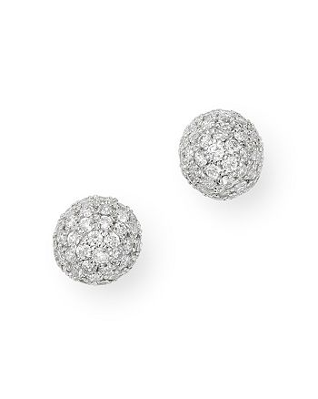 Bloomingdale's - Diamond Mini Ball Stud Earrings in 14K White Gold, 0.40 ct. t.w. - 100% Exclusive