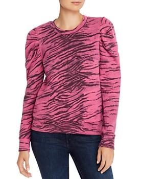 PAM & GELA - Puff-Sleeve Tiger Print Sweatshirt