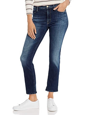 Mother Jeans THE DAZZLER HIGH-RISE STRAIGHT-LEG JEANS IN ON THE EDGE