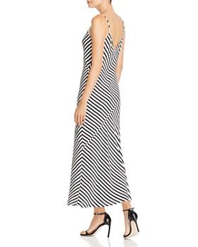 FRAME - Bias-Cut Striped Silk Slip Dress