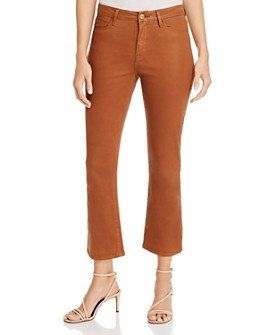 FRAME - Le Cropped Mini Boot Jeans in Caramel Coated