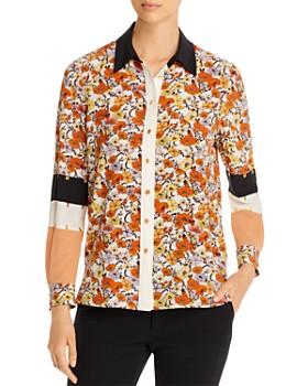 Tory Burch - Studded Patchwork Silk Shirt