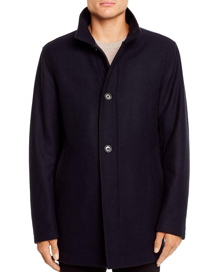 Hugo Boss Camron Coat In Dark Blue