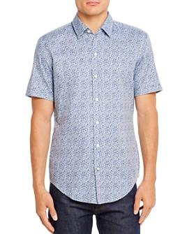 BOSS - Robb Short-Sleeve Geometric-Print Slim Fit Shirt