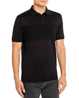 BOSS - Ribbed-Inset Slim Fit Polo Shirt