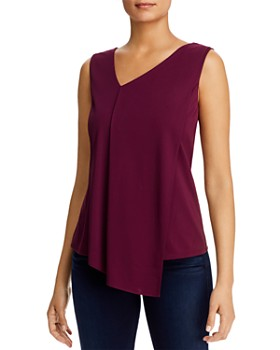 Donna Karan - Sleeveless Asymmetric Top