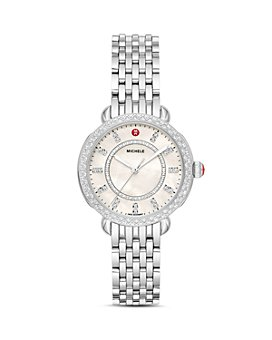 MICHELE - Sidney Classic Diamond Watch, 33mm