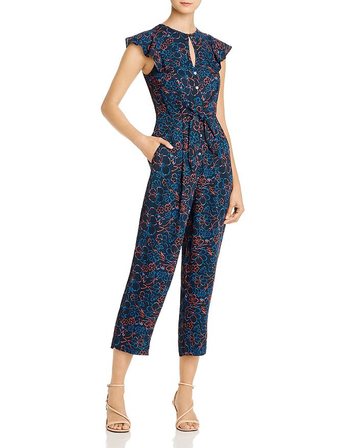 Whistles - Floral Cropped Jumpsuit - 100% Exclusive
