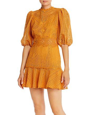 Saylor - Mixed Embroidery Mini Dress