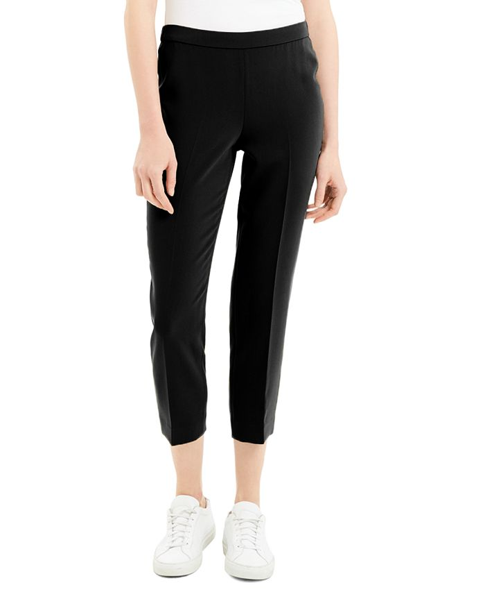 Theory - Basic Cropped Straight-Leg Pants