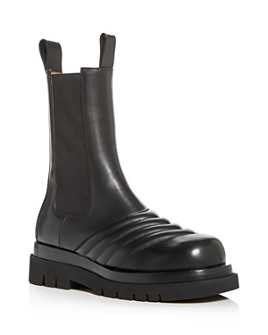 Bottega Veneta - Men's Leather Platform Chelsea Boots