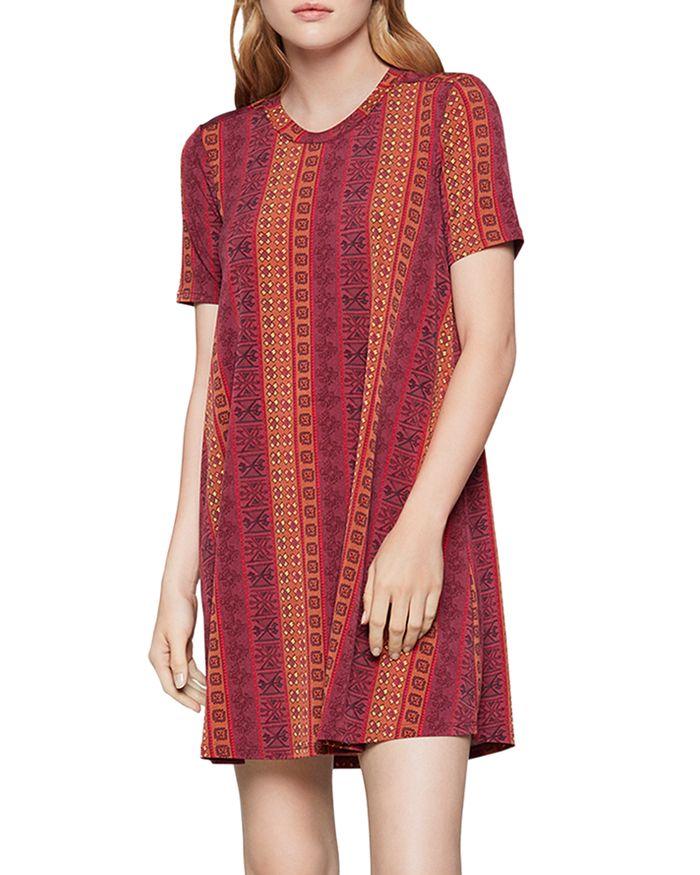 BCBGENERATION - Tile-Stripe A-Line Dress