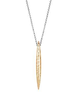 JOHN HARDY - Sterling Silver & 18K Yellow Gold Classic Chain Spear Pendant Necklace, 40""